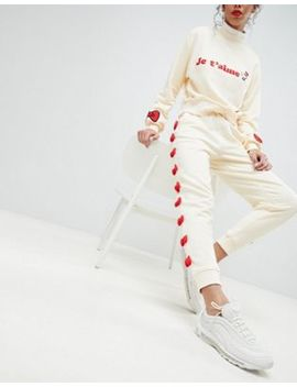 Hello Kitty X Asos Bow Joggers With Peeping Motif by Asos Design