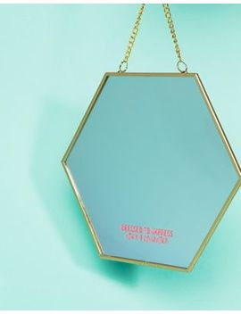 Typo Hexagon Shaped Wall Mirror by Typo
