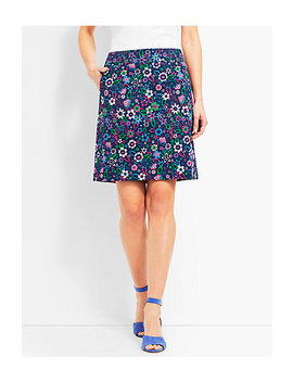 Graphic Floral Skirt by Talbots