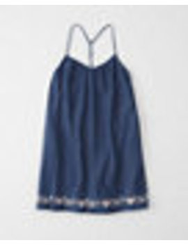 Chambray Embroidered Dress by Abercrombie & Fitch