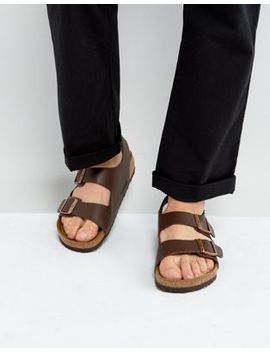 Birkenstock Milano Sandals In Dark Brown by Birkenstock