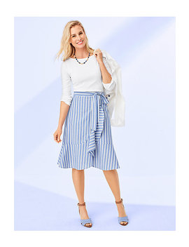 Ruffle Stripe Skirt by Talbots