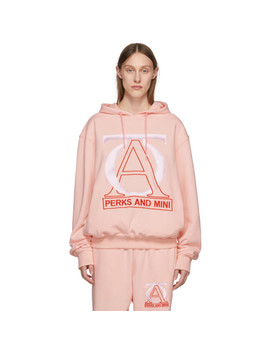 Pink 'jog Your Mind' Hoodie by Perks And Mini