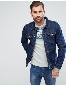 Pull&Bear Denim Jacket In Dark Blue by Pull&Bear
