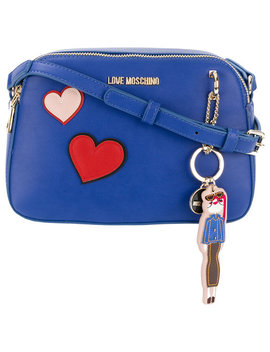 Heart Patches Crossbody Bag by Love Moschino