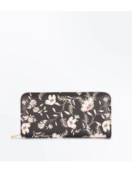 black-floral-leather-look-purse by new-look