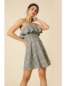 Glen Plaid Fit & Flare Dress by Forever 21