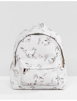 Mi Pac Super Mini Backpack In Cat Print by Mi Pac