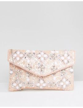 True Decadence Enevelope Beaded Clutch Bag by True Decadence