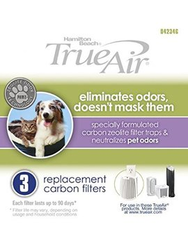 Hamilton Beach True Air 04234 G Replacement Carbon Filter 6 Pack … by Hamilton Beach