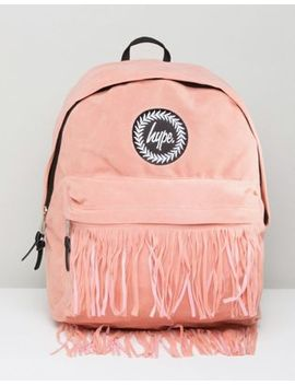 Hype Backpack With Fringed Pocket by Hype