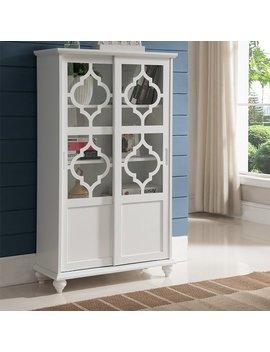 Wilhelmine Wood Curio Cabinet by Bungalow Rose