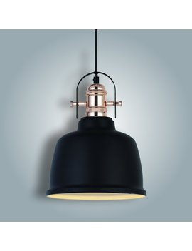 Vinluz Industrial Vintage Ceiling Pendant Light Chandelier 1 Light Black Bronze Barn Metal For Kitchen Dining Room by Vinluz