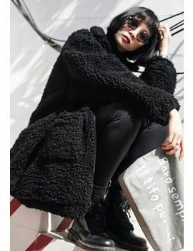 Black Wool Winter Coat by Skirtlessgal