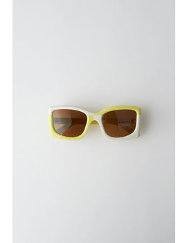 Anitha Acidgreen Ivory/Brown by Acne Studios