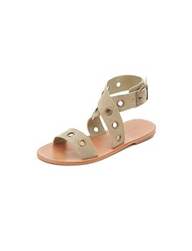 Eyelet Flat Sandals by Zimmermann