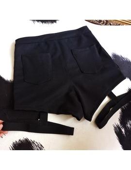 Punk Women Shorts Metal Leopard Button Decoration Elastic Band Hollow Out Hip Pop Summer Fashion Shorts by Super Sale Yangelo