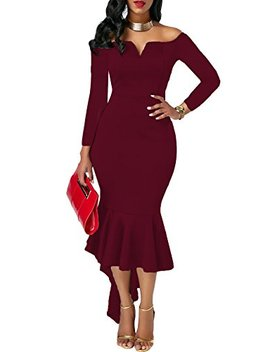 Onlyshe Womens Sexy Casual Bodycon Evening Party Dress by Onlyshe