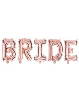 Non Floating Bride Letter Balloons Bridal Shower Bachelorette Party Decorations (Rose Gold) by Ella Celebration
