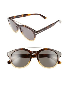 Newman 53mm Round Sunglasses by Tom Ford