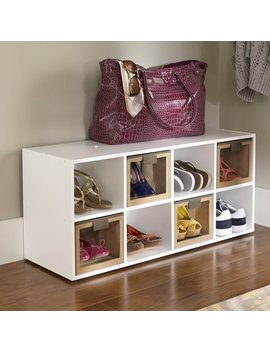 8 Compartment 16 Pair Shoe Rack by Closet Maid
