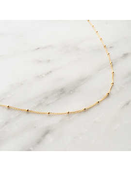 Satellite Chain Choker / Satellite Choker Necklace / Gold Satellite Necklace / Gold Satellite Choker / Gold Choker Necklace / Dainty Choker by Etsy