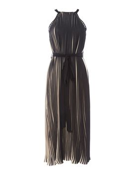Pleated Dress With Cross Detail by Little Mistress