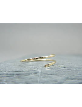 Dainty Yellow Gold Ring ~ Minimalist Yellow Gold Ring ~ Yellow Gold Filled Rings For Women ~ Yellow Gold Stacking Rings ~ Open Design Ring by Etsy