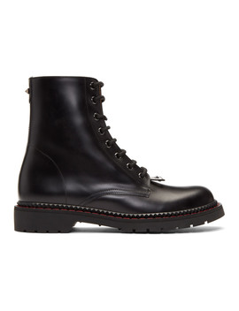 Black Valentino Garavani Lace Up Boots by Valentino