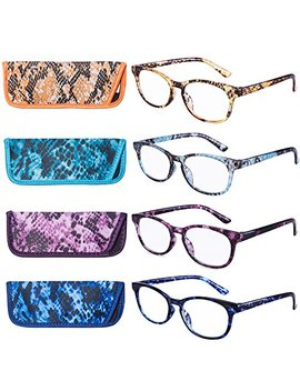 Eyeguard Reading Glasses 4 Pack Quality Fashion Colorful Reading Glasses For Women by Eyeguard