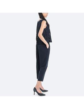 Women Lace Sleeveless Jumpsuit by Uniqlo