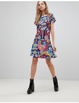 Love Moschino Surpises Printed Skater Dress by Love Moschino