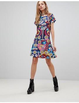 Love Moschino Surpises Printed Skater Dress by Love Moschino