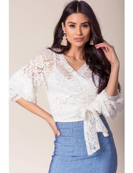 Jenya Lace Wrap Top by A'gaci