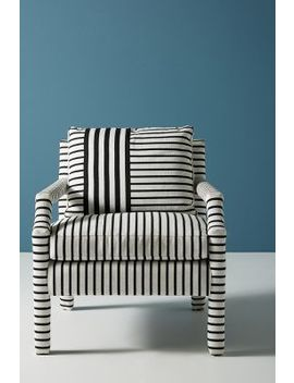 Banded Stripe Delaney Chair by Anthropologie