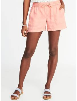 Mid Rise Soft Utility Shorts For Women by Old Navy