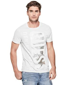 Linear Logo Crewneck Tee by Guess