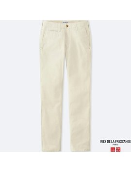 Women Ines 100% Cotton Chino Trousers by Uniqlo