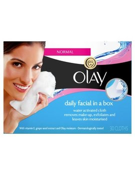 Olay Daily Facial In A Box Water Activated Cleansing Cloths, 30 Wipes by Olay