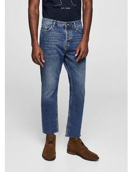 Slim Fit Medium Wash Loose Jeans by Mango
