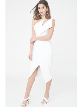 One Shoulder Midi Wrap Dress by Lavish Alice