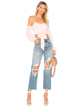 Maya Off Shoulder Crop Top by By The Way.