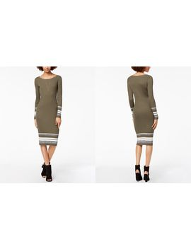 Ribbed Knit Midi Sweater Dress, Created For Macy's by Bar Iii