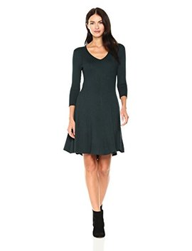Gabby Skye Women's Ribbed Fit And Flare Sweater Dress. by Gabby Skye