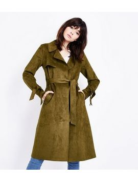 Khaki Suedette Mac by New Look