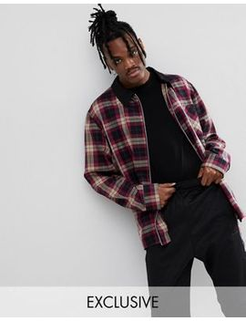 Reclaimed Vintage Inspired Check Coach Jacket With Contrast Collar by Reclaimed Vintage