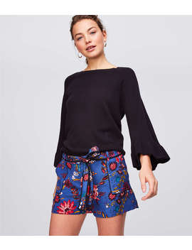 Wildflower Tie Waist Utility Shorts by Loft