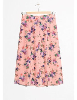 Floral Print Midi Skirt by & Other Stories