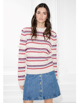 Striped Fringe Knit Sweater by & Other Stories