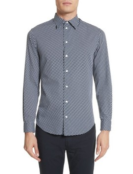 Rectangle Print Regular Fit Sport Shirt by Emporio Armani
